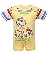 Toffy House - Romper Suit With Half Sleeves T-Shirt