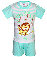 Fun - Boys Half Suit Little Lion Print