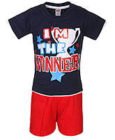 Fun - Half Sleeves T Shirt With Shorts Set