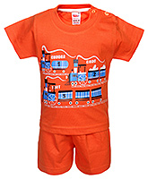 Fun - Train Print T Shirt With Shorts Set