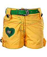 SAPS -  Yellow Shorts With Belt