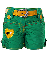 SAPS - Green Shorts With Belt