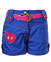 SAPS - Blue Shorts With Belt