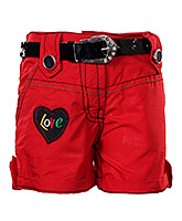 SAPS -  Red Shorts With Belt