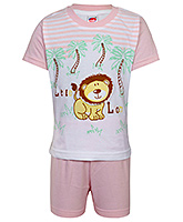 Fun - Boys Half Suit Little Lion Print Set