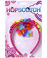Hopscotch - Multi Coloured Hair Band And Snap Clip