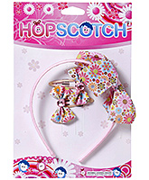 Hopscotch - Floral Print Hair Band And Snap Set