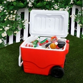 Simply Solid Red Wheeled Cooler - 1007729RED