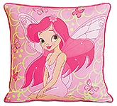 Swayam - Digital Fairy Print Kids Cushion Cover - 12 X 12 Inches