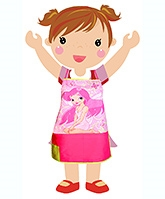 Digitally Fairy Printed Kids Apron 5 Years+, 22 X 17 Inches, A Cute Digitally Printed F...