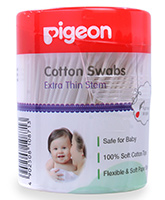 Pigeon - Cotton Swabs 200 Pieces, Soft Paper Stem