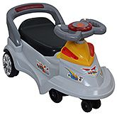 Swing Car Grey 3 Years+,  Manual push ride-on with an easy to steer...