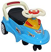 Swing Car Blue 3 Years+,  Manual Push Ride-on With An Easy To Steer...