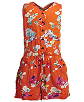 Little Pixies - Sleeveless Floral Print Jumpsuit