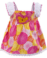 Infancy - Sleeveless Floral Printed Dress