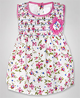 Infancy - Sleeveless Dress With Bloomer