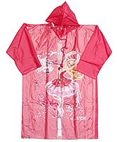 Barbie - Princess In Pink Shoes Print Raincoat