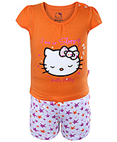 Hello Kitty - Kitty Print Top With Shorts Set