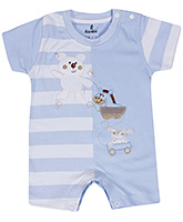 Child World - Teddy And Stripes Print Romper