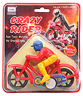 Crazy Rider With Cycle CT 069 3 Years+, Safe non toxic pull back and go toy for lo...