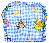 Little's - Rabbit Print Blue Baby Pillow