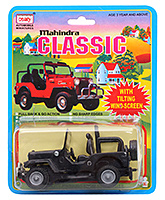 Mahindra Classic Jeep 3 Years+, Safe Non Toxic Pull Back And Go Toy For Lo...