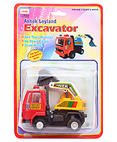 Ashok Leyland Excavator CT 065 3 Years+, Safe Non Toxic Pull Back And Go Toy For Lo...