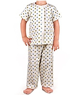 Earth Conscious - Half Sleeves Polka Dot Night Suit