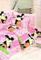 Sai Arpan - Mickey Mouse Print Bed Sheet Set