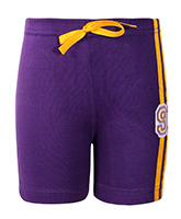 SAPS - Purple Shorts With 91 Applique
