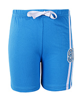 SAPS - Light Blue Shorts With 91 Applique