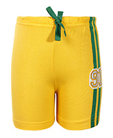 SAPS - Yellow Shorts With 91 Applique