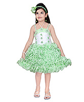 Baby Hug - Singlet Party Dress With Rosette And Pearls