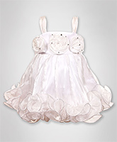 Baby Hug - Singlet Dress With 3 Big Rosettes