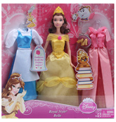 Disney Princess Belle Doll With Fashion Accessories