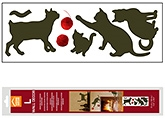 Wall Paper &amp; Sticker - Home Decor Line Wall Decor - Cats