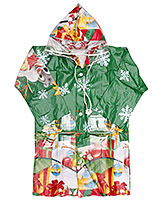 Minister - Christmas Printed Green Raincoat