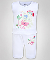 Baby Hug - Printed T-Shirt And Shorts Set
