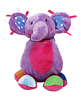 Baby Elephant Soft Toy Purple 2 Years+, Cute and fluffy baby elephant soft toy for...