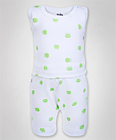Baby Hug - Sleeveless Printed Night Suit
