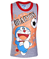 Doremon -  Printed Sleeveless T-shirt