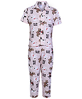Ollypop - Half Sleeves Dog Print Night Suit
