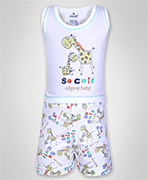 Ollypop - Printed T-Shirt And Shorts Set