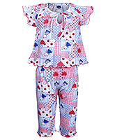 Teddy - Short Sleeves Printed Night Suit