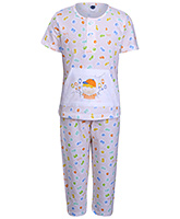 Teddy - Printed Girls Night Suit