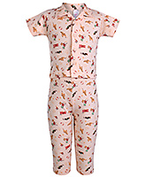 Pink Rabbit - Aeroplane Print Half Sleeves Night Suit