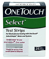 One Touch Select Strips 25 Pack