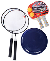 Fab N Funky - Badminton Table Tennis Disc Kit Multi Colour
