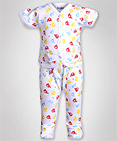 Baby Hug - Elephant Print Boys Night Suit