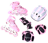 Fab N Funky - Pink Stripes Skates Set